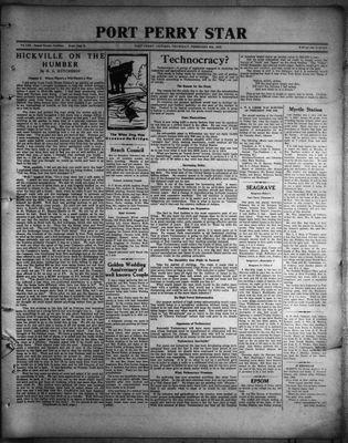 Port Perry Star, 9 Feb 1933