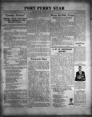 Port Perry Star, 25 May 1933