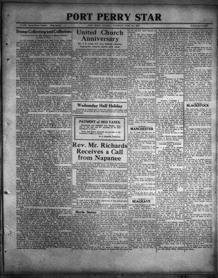 Port Perry Star, 1 Jun 1933
