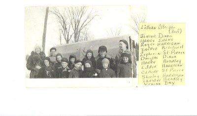 Teacher, Lillian Otterson with school children