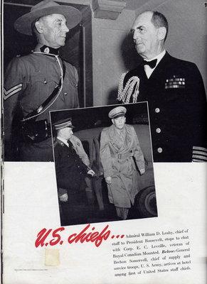 Eugène Léveillé (GRC) à la conférence de Quebec Ca 1943