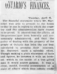 Ontario Scrapbook Hansard, 11 Apr 1893