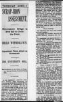 Ontario Scrapbook Hansard, 4 Apr 1901