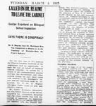 Ontario Scrapbook Hansard, 4 Mar 1913