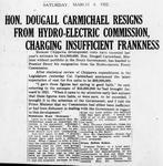 Ontario Scrapbook Hansard, 4 Mar 1922