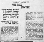 Ontario Scrapbook Hansard, 11 Apr 1922