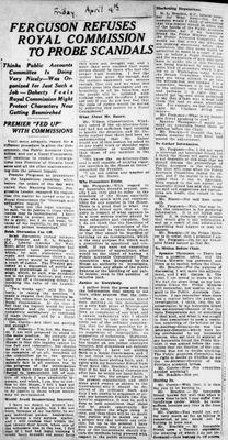 Ontario Scrapbook Hansard, 4 Apr 1924