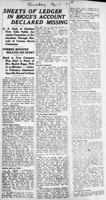 Ontario Scrapbook Hansard, 17 Apr 1924