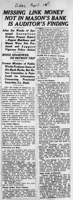 Ontario Scrapbook Hansard, 18 Apr 1924