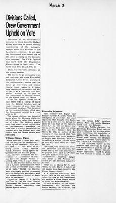 Ontario Scrapbook Hansard, 9 Mar 1945