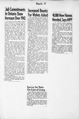 Ontario Scrapbook Hansard, 16 Mar 1945