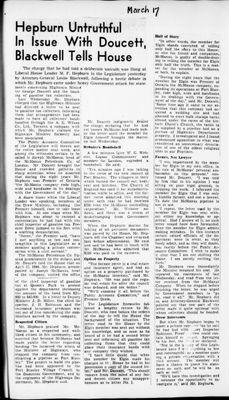 Ontario Scrapbook Hansard, 17 Mar 1945