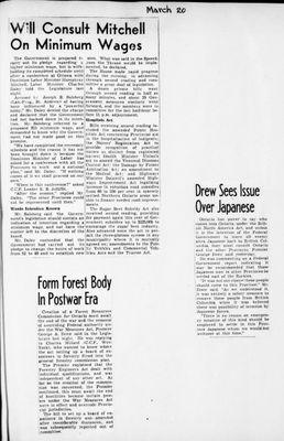 Ontario Scrapbook Hansard, 20 Mar 1945