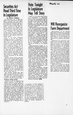 Ontario Scrapbook Hansard, 22 Mar 1945