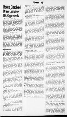 Ontario Scrapbook Hansard, 26 Mar 1945