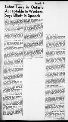Ontario Scrapbook Hansard, 6 Mar 1946