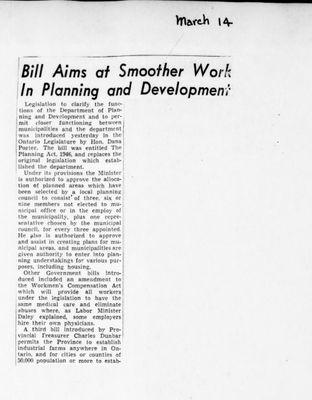 Ontario Scrapbook Hansard, 14 Mar 1946