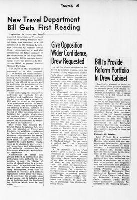 Ontario Scrapbook Hansard, 15 Mar 1946