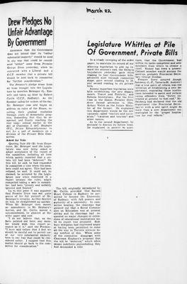 Ontario Scrapbook Hansard, 22 Mar 1946