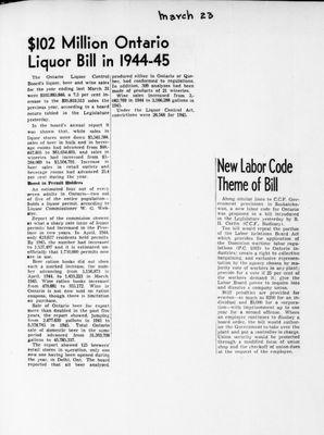 Ontario Scrapbook Hansard, 23 Mar 1946