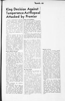 Ontario Scrapbook Hansard, 26 Mar 1946