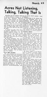 Ontario Scrapbook Hansard, 29 Mar 1946