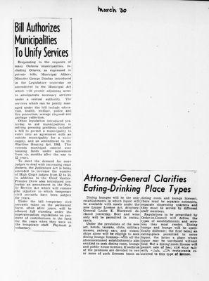 Ontario Scrapbook Hansard, 30 Mar 1946
