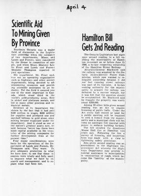 Ontario Scrapbook Hansard, 4 Apr 1946