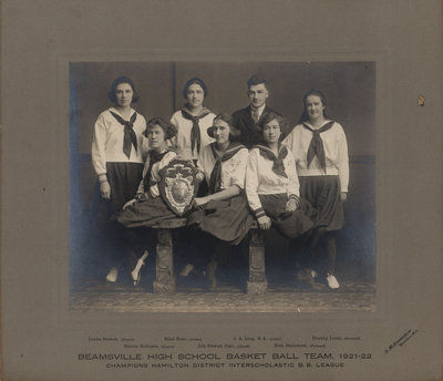 Beamsville High School Basket Ball Team 1921-22