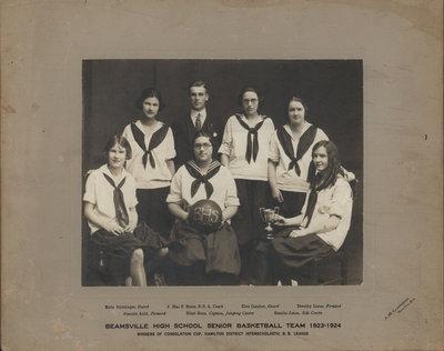 Beamsville High School Senior Basketball Team 1923-1924