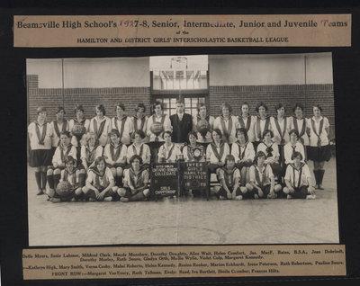 Beamsville High School's 1927-8 Senior, Intermediate, Junior and Juvenile Teams