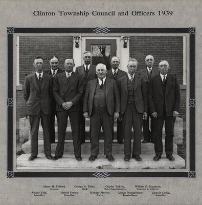 Clinton Township Council and Officers 1939