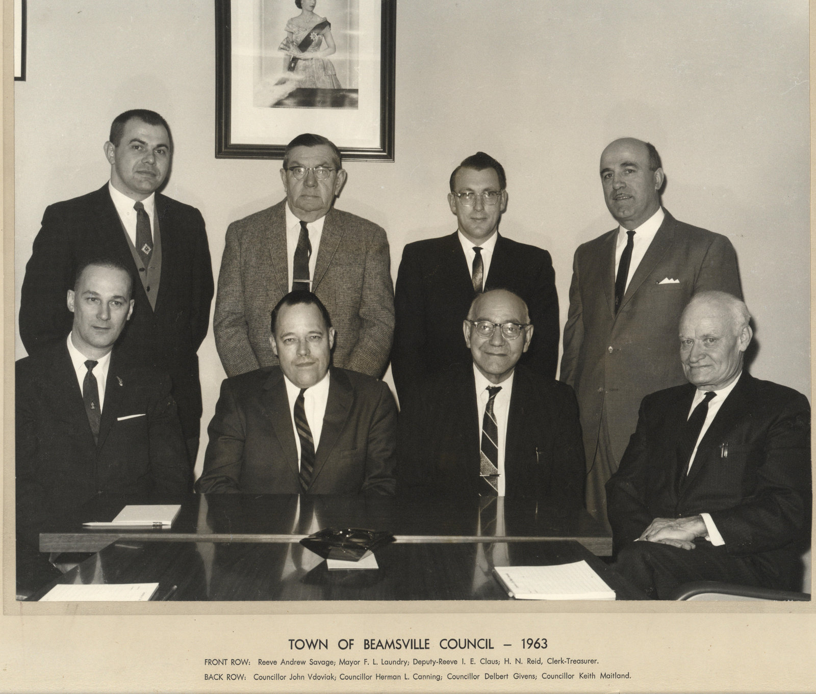 Town of Beamsville Council - 1963