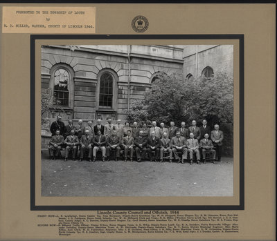 Lincoln County Council and Officials, 1944