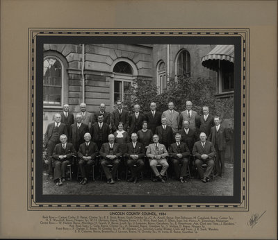 Lincoln County Council, 1934