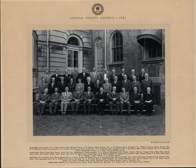 Lincoln County Council - 1951