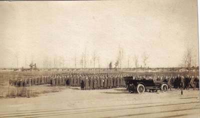 Royal Flying Corps  -  Troops Assembled