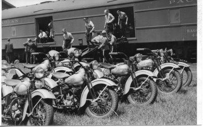 Royal Visit, 1939 - Royal Escort Equipment Arrives in London, Ontario