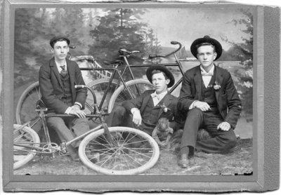 Group Portrait of Three Cyclists, London, Ontario