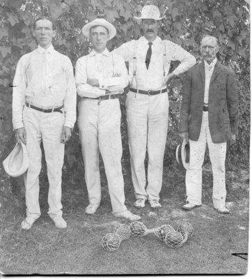 Group Portrait of Male Lawn Bowlers, London, Ontario