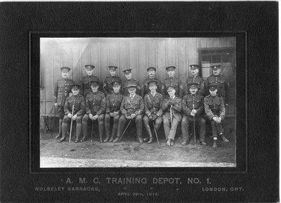 A.M.C. Training Depot, No.1, Wolseley Barracks, London, Ontario