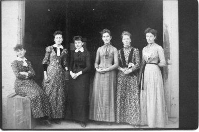 Unidentified group of six women, London, Ontario