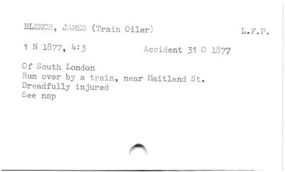 BLEEGE, JANFS (Train Oiler)