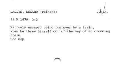 DALLYN, EDWARD (Painter) L.E/g.