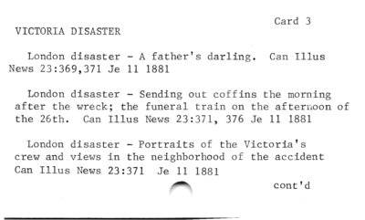 Victoria Disaster  Card 3