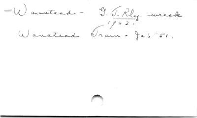 Wanstead.  G.T. Rly.  wreck.  1902.