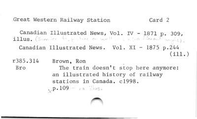 Great western Railway Station Card 2