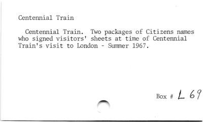 Centennial Train