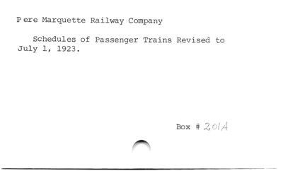 Pere Marquette Railway Company