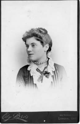 Portrait of an unidentified young woman with a pearl necklace, London, Ontario